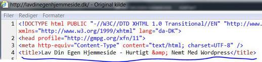 Sidetitel kildekolde - SEO