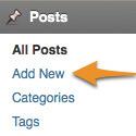 Tilføj indhold i Wordpress