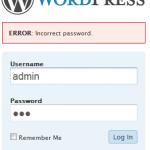 WordPress Administrator Kodeord