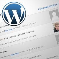 WordPress kommentarer