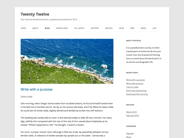 WordPress Twenty Twelve Tema