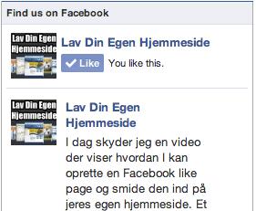 Facebook Like Knap